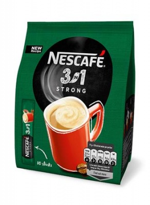 "Instant kávé stick, 10x18 g, NESCAFÉ,  3in1 ""Strong"""